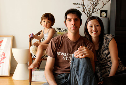 Mark, Jenna and youngest daughter Claudine